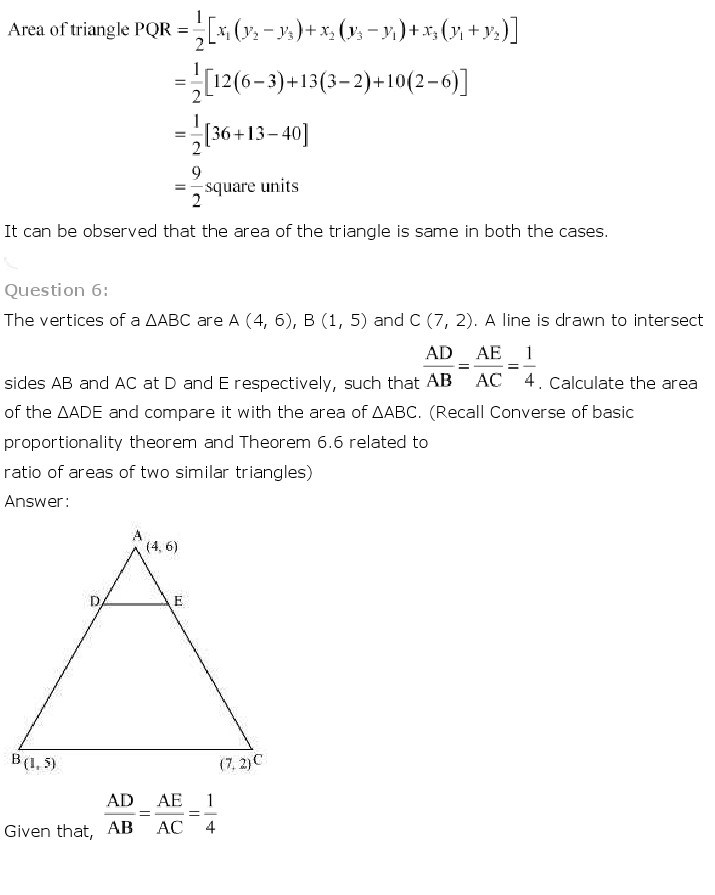 10th, Maths, Coordinate Geometry 27
