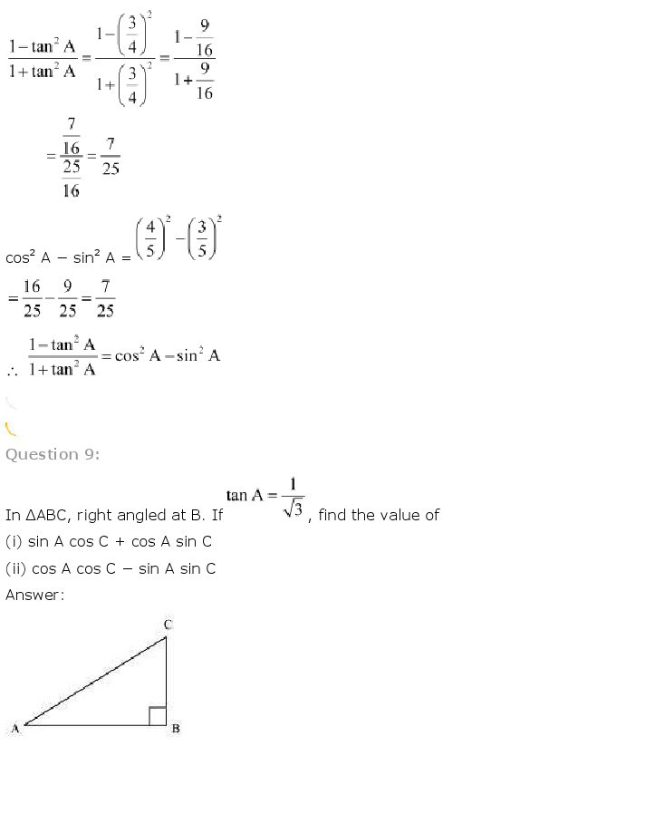 10th, Maths, Introduction to Trigonometry 13