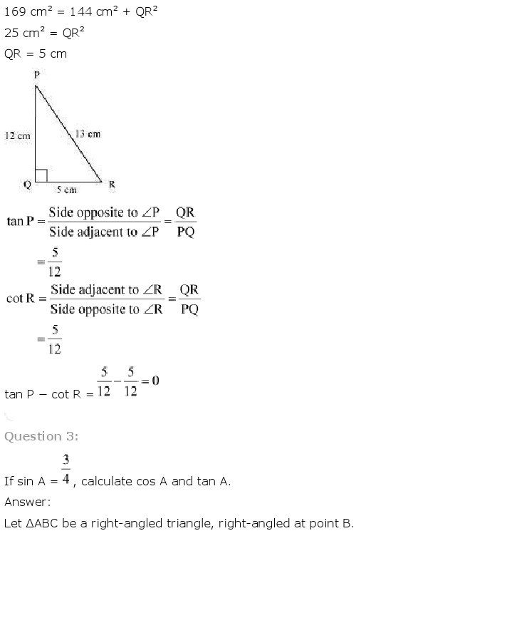 10th, Maths, Introduction to Trigonometry 3