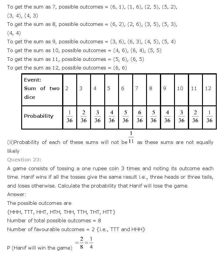 10th, Maths, Probability 15