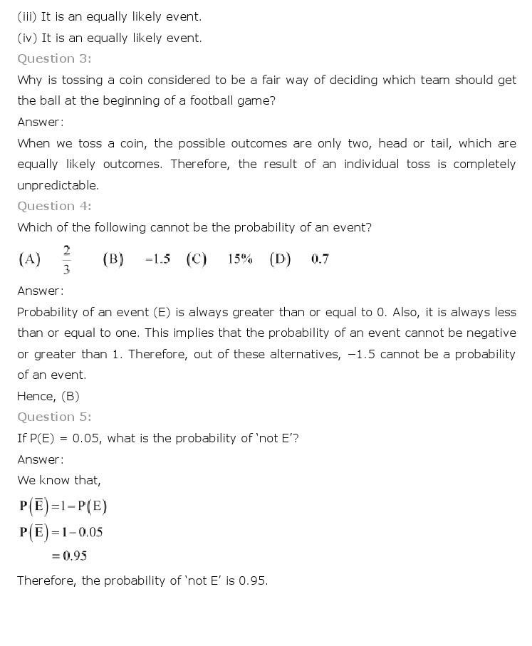 10th, Maths, Probability 2
