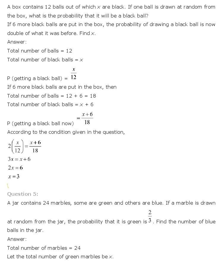10th, Maths, Probability 21