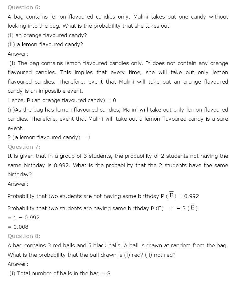 10th, Maths, Probability 3
