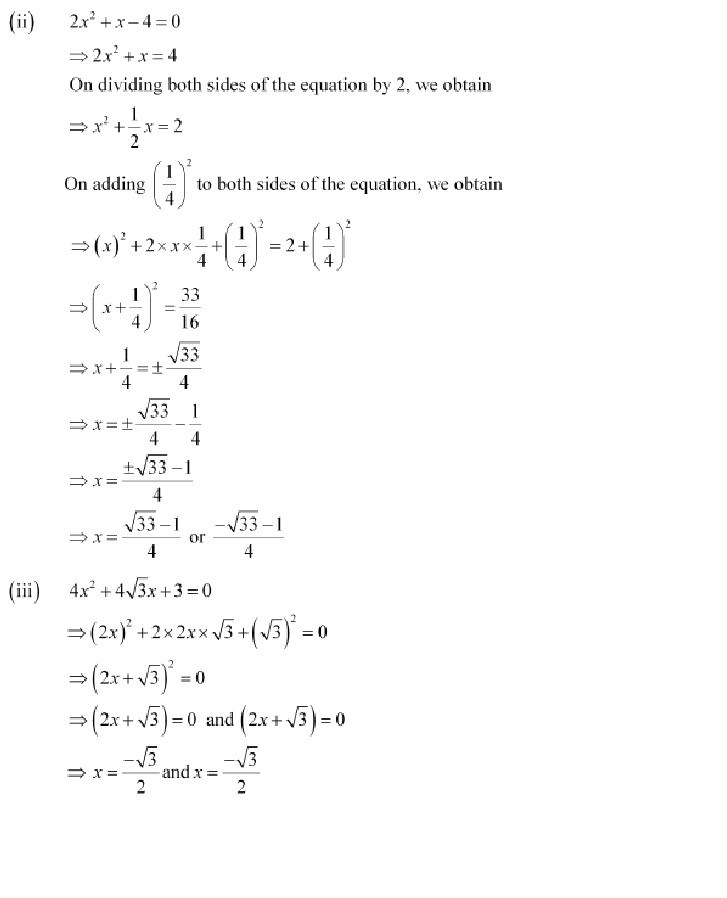 10th, Maths, Quadratic Equations 22