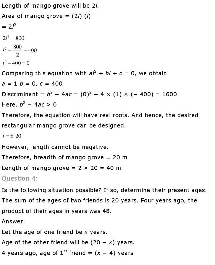 10th, Maths, Quadratic Equations 39