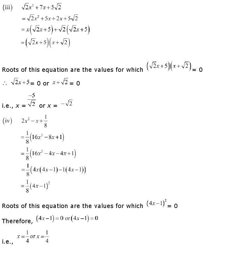 10th, Maths, Quadratic Equations 6