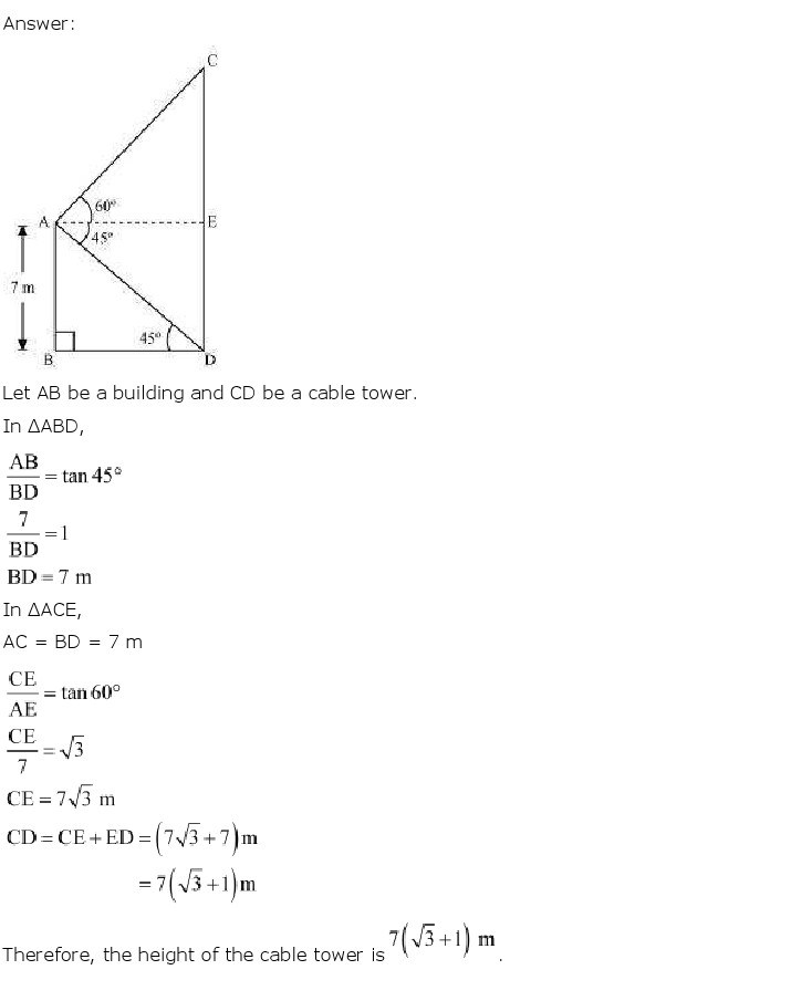 10th, Maths, Some Applications of Trigonometry 13