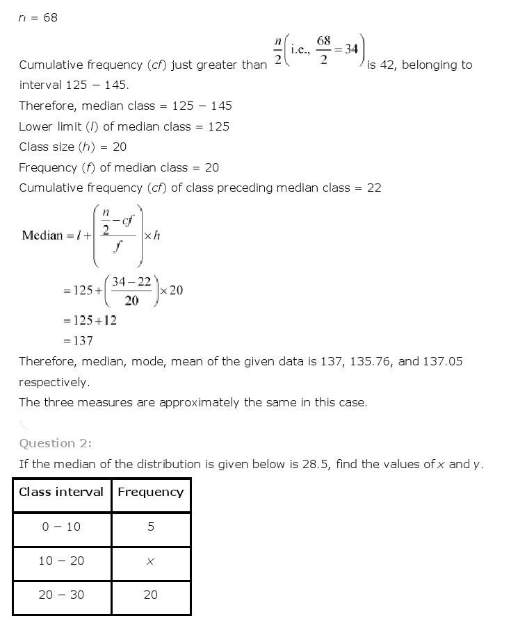 10th, Maths, Statistics 29