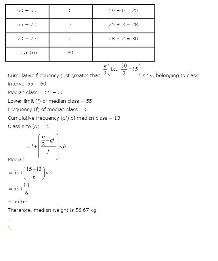 10th, Maths, Statistics 43