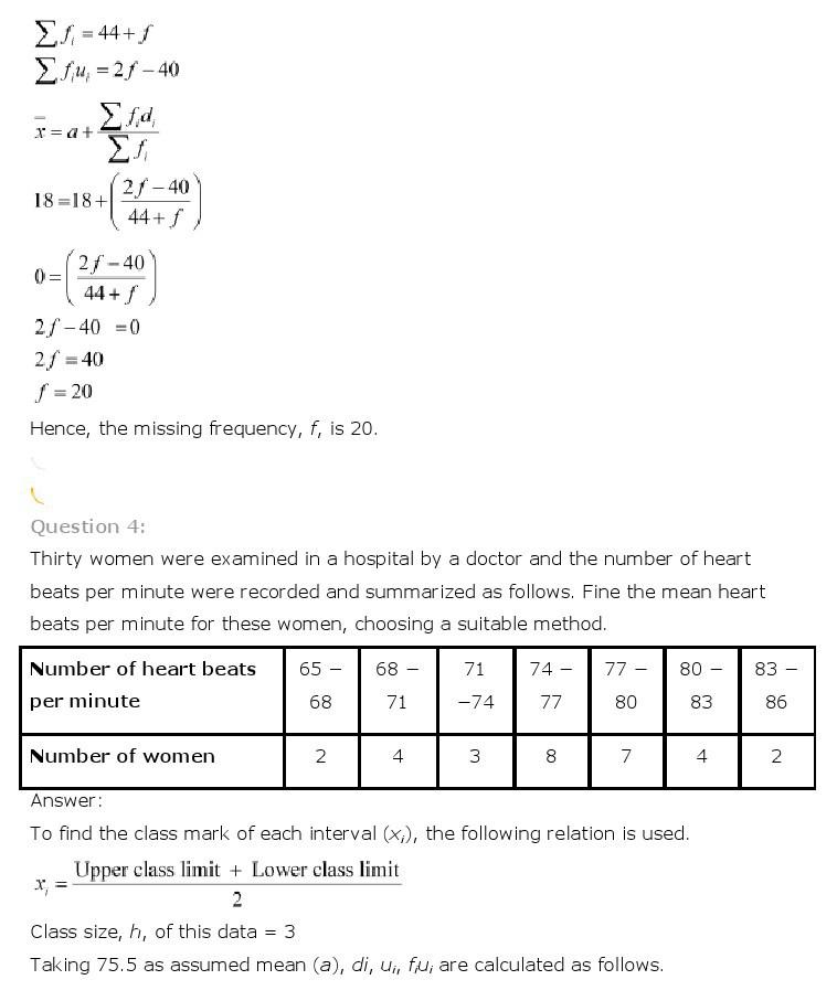 10th, Maths, Statistics 5