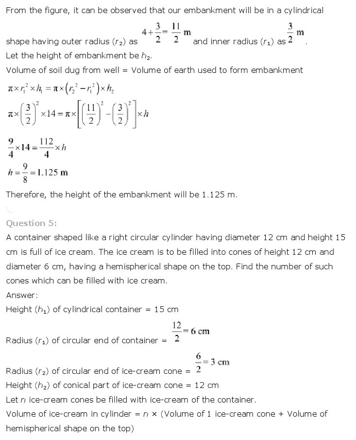 10th, Maths, Surface Areas & Volumes 22