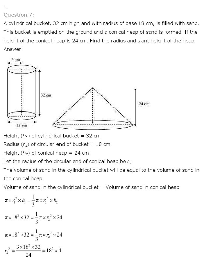 10th, Maths, Surface Areas & Volumes 24