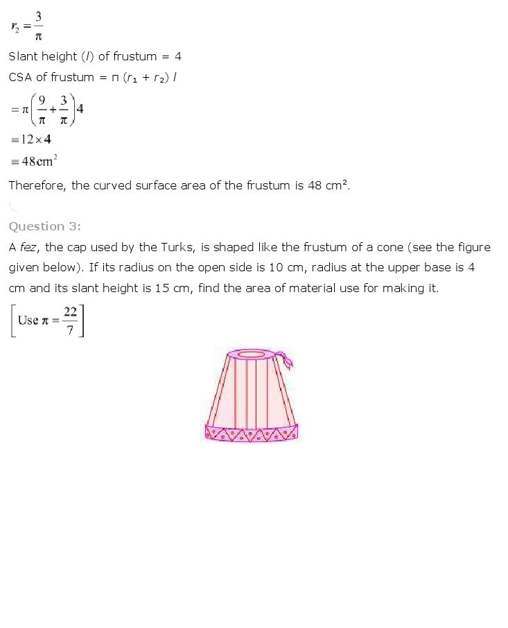 10th, Maths, Surface Areas & Volumes 30