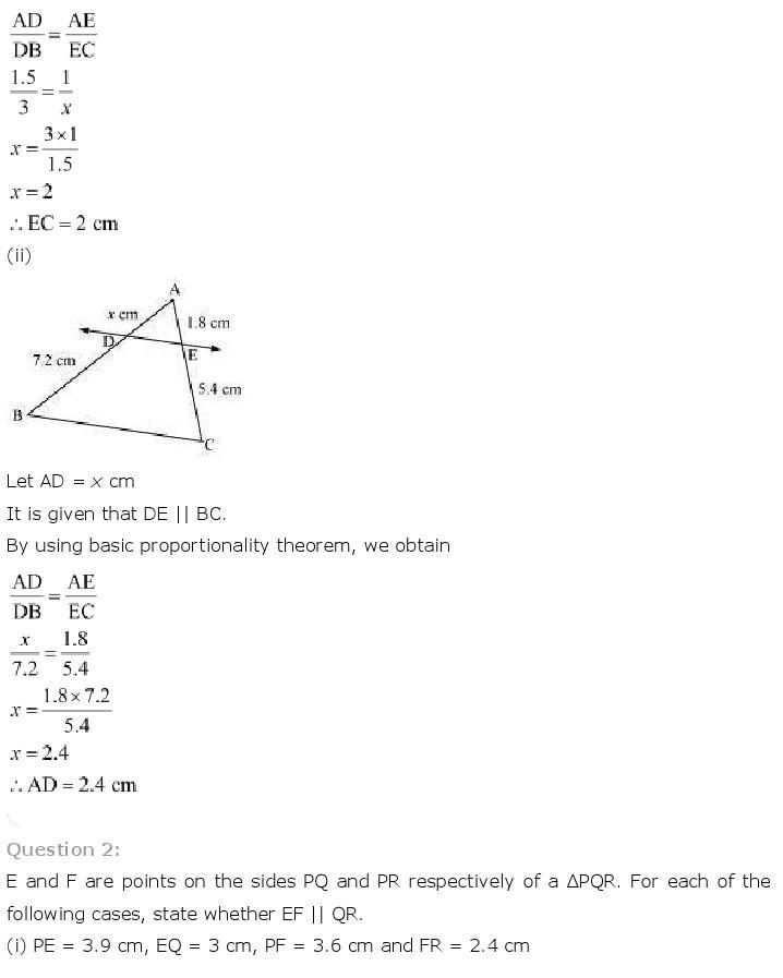 10th class maths solution