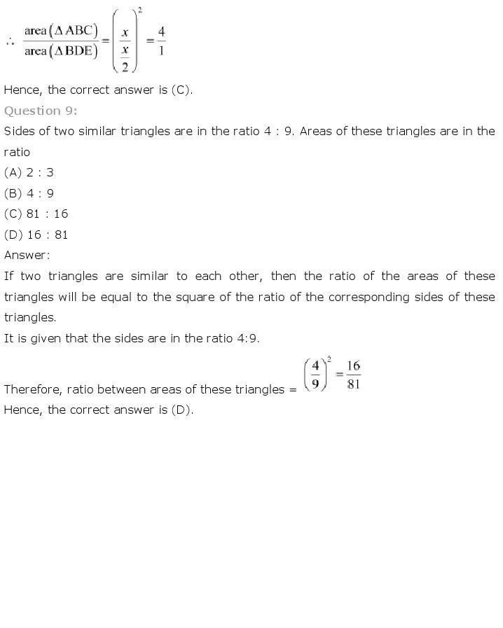 10th, Maths, Triangles 43