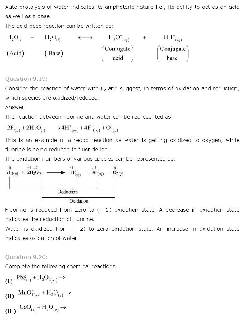 11th, Chemistry, Hydrogen 11