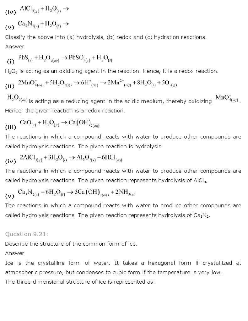 11th, Chemistry, Hydrogen 12