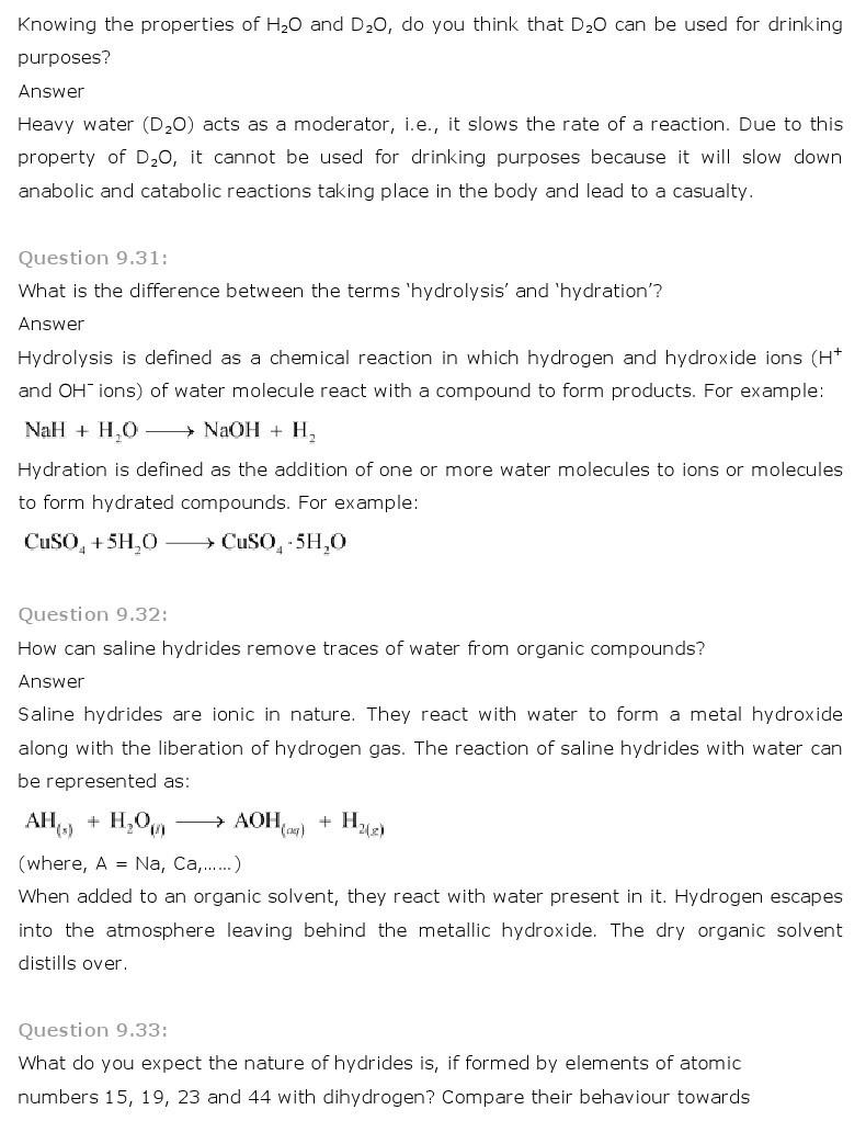 11th, Chemistry, Hydrogen 18