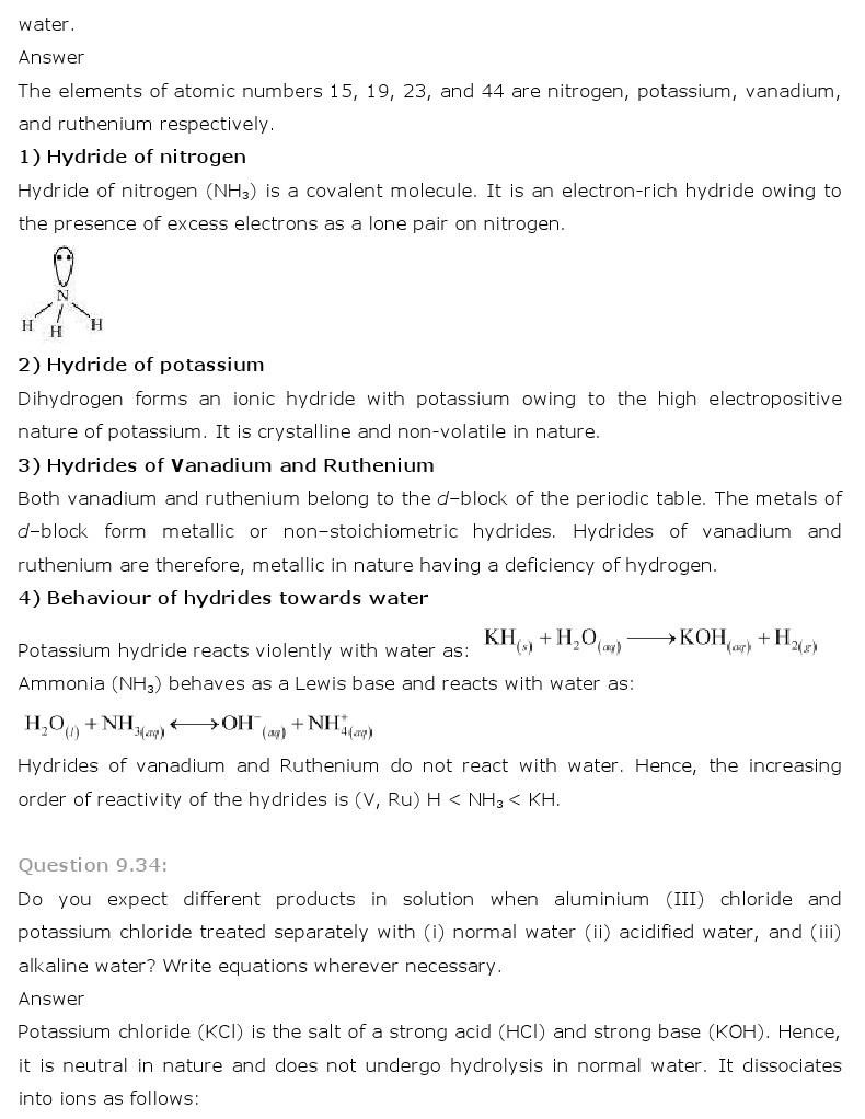 11th, Chemistry, Hydrogen 19