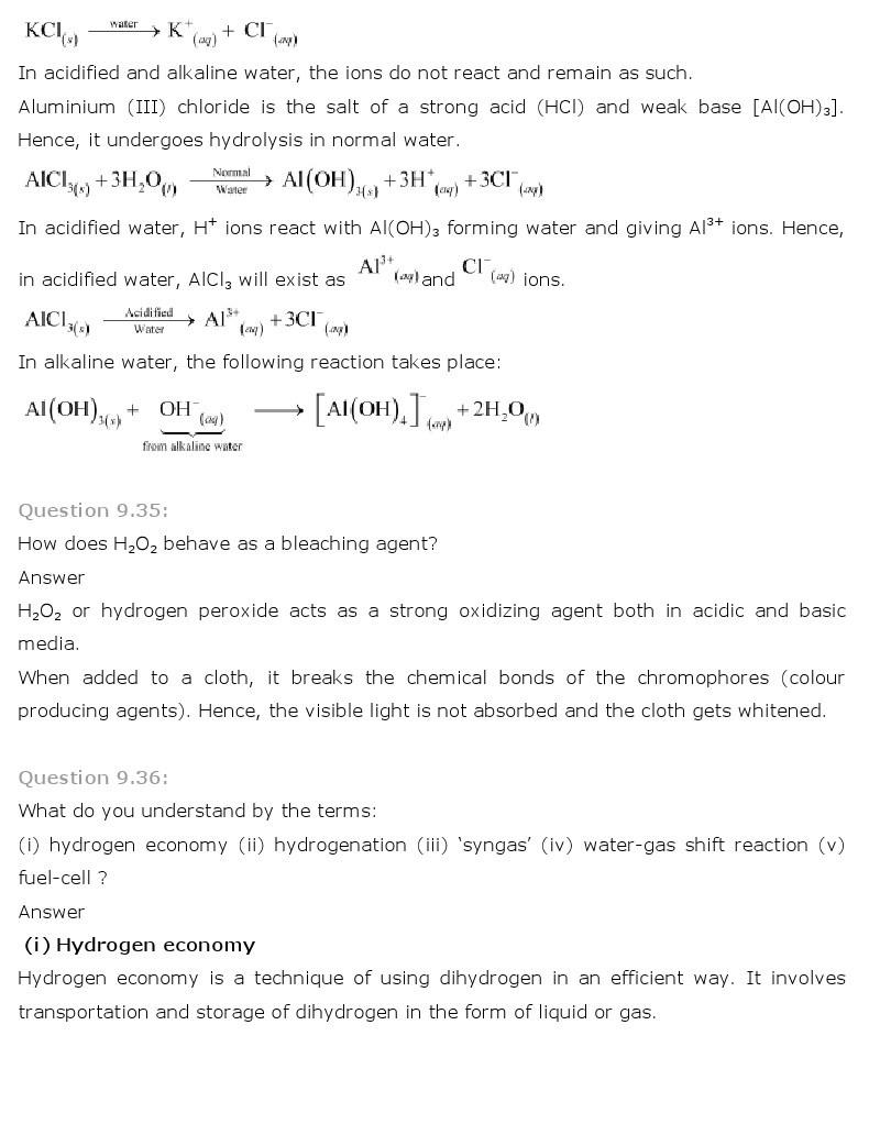 11th, Chemistry, Hydrogen 20