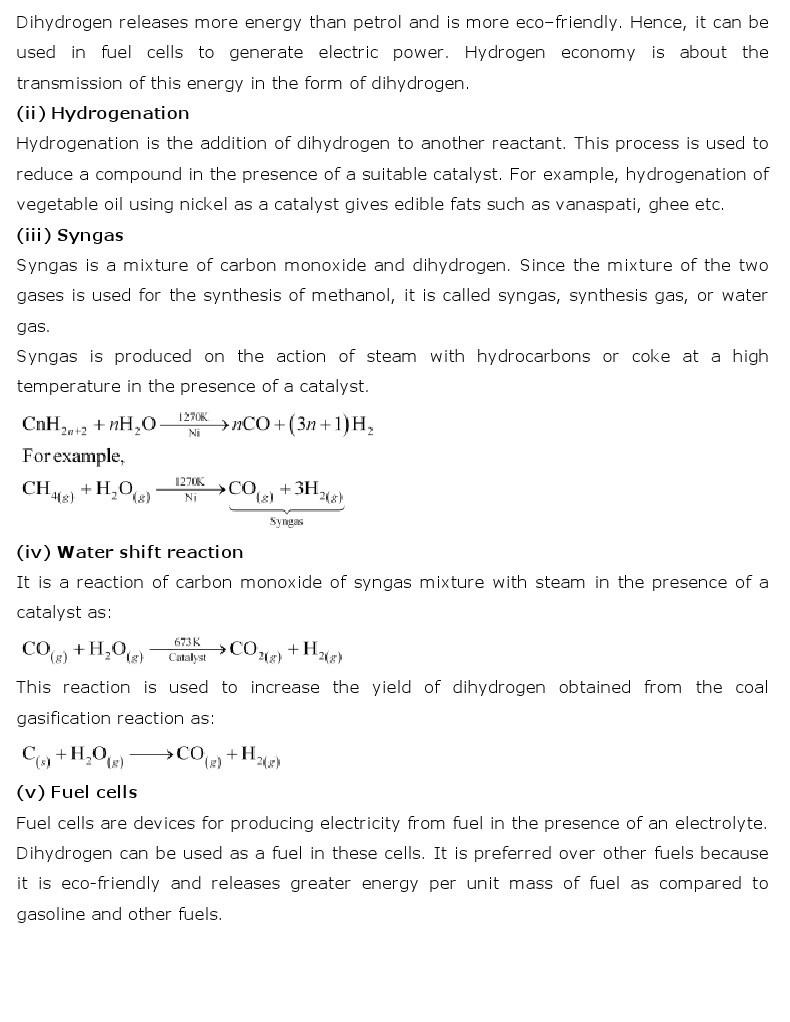 11th, Chemistry, Hydrogen 21
