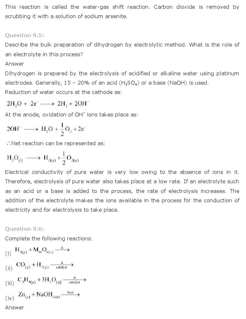 11th, Chemistry, Hydrogen 3