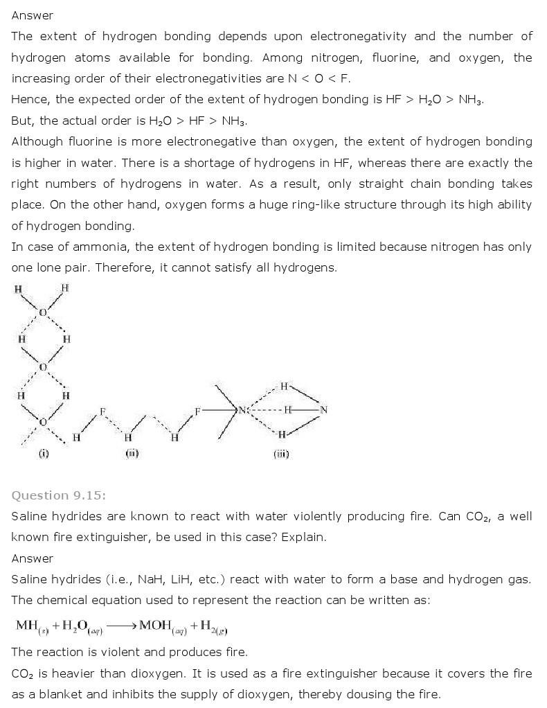 11th, Chemistry, Hydrogen 8