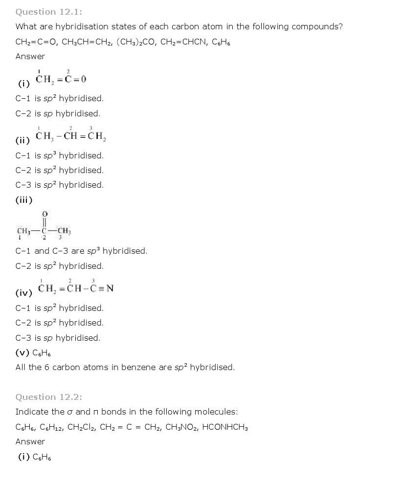 11th, Chemistry, Organic Chemistry 1