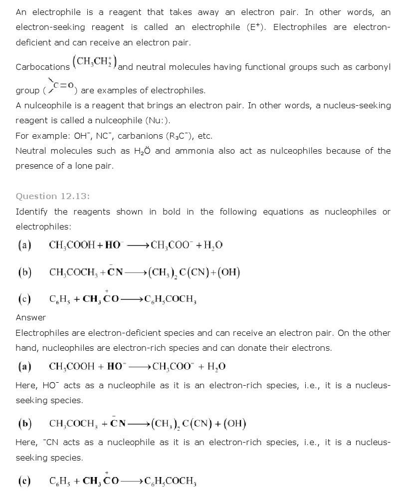11th, Chemistry, Organic Chemistry 13