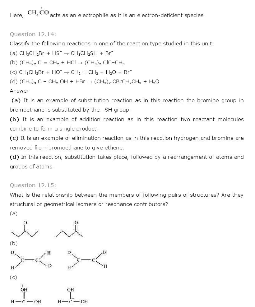 11th, Chemistry, Organic Chemistry 14