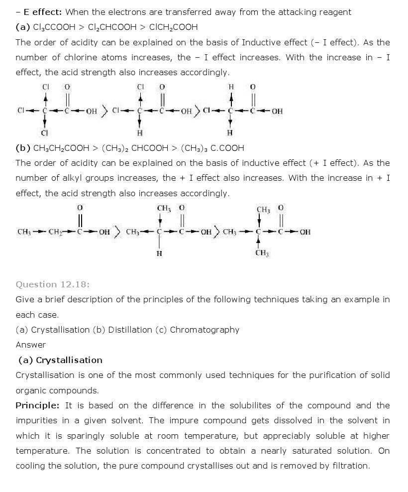 11th, Chemistry, Organic Chemistry 18