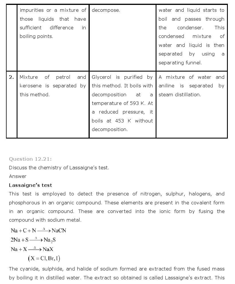 11th, Chemistry, Organic Chemistry 21