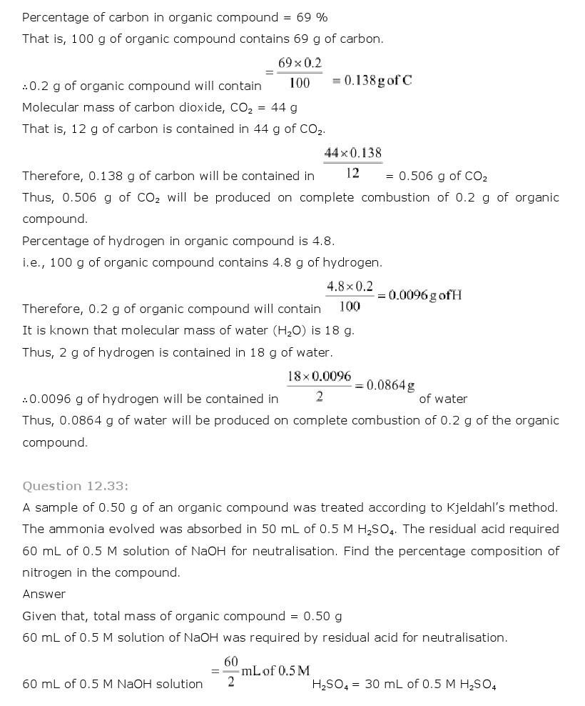 11th, Chemistry, Organic Chemistry 30