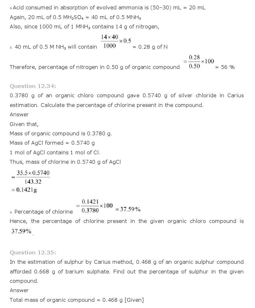 11th, Chemistry, Organic Chemistry 31