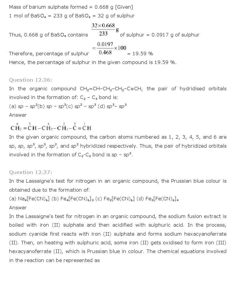 11th, Chemistry, Organic Chemistry 32