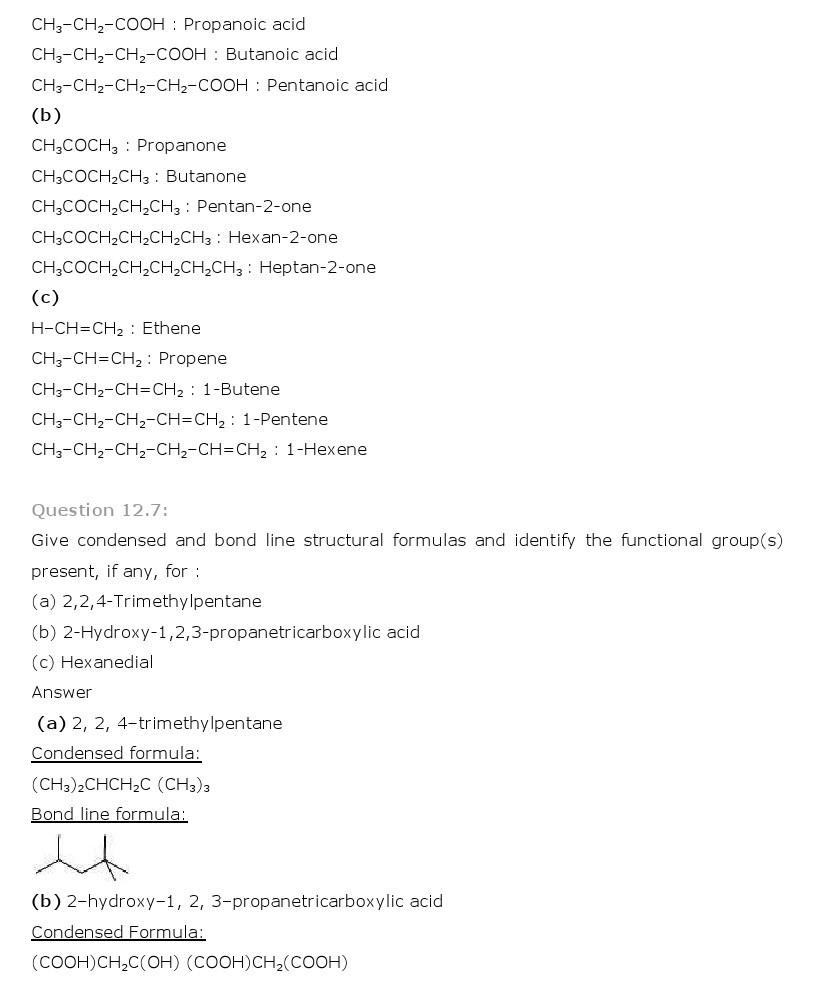 11th, Chemistry, Organic Chemistry 7