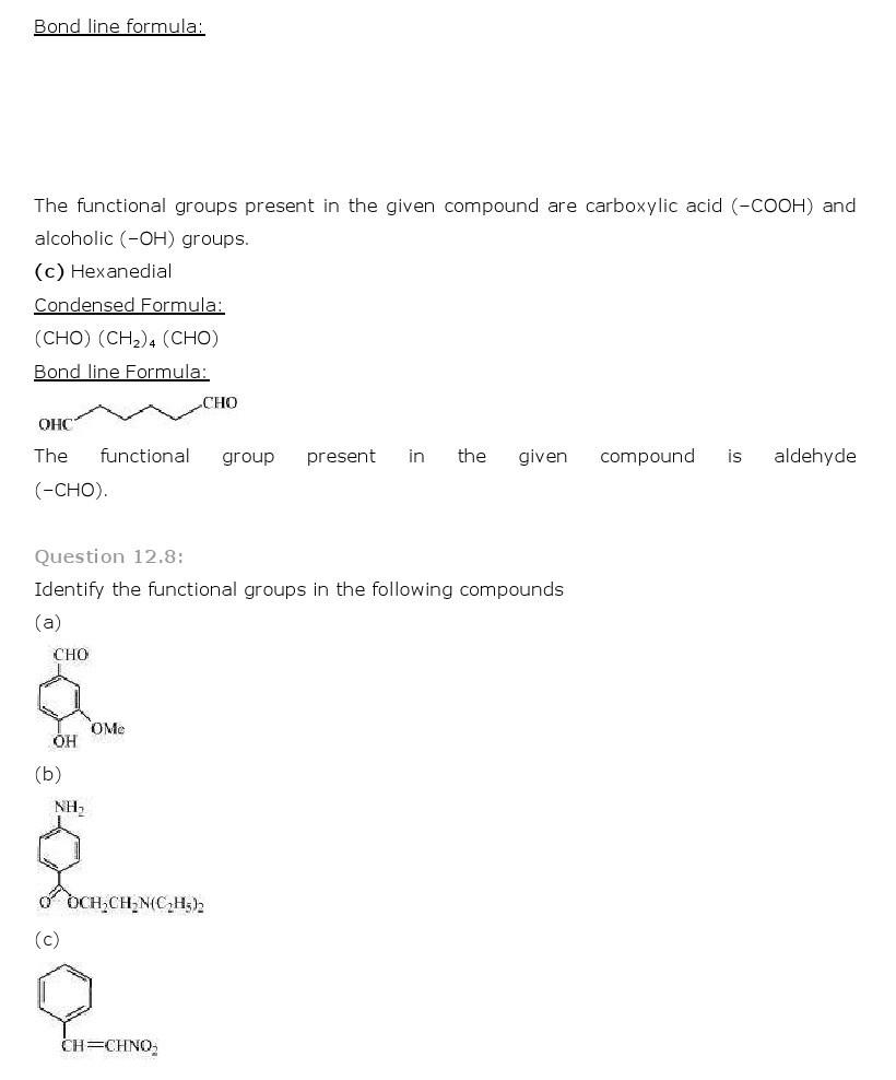 11th, Chemistry, Organic Chemistry 8