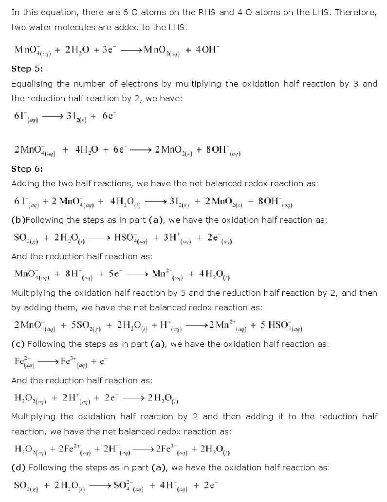 11th, Chemistry, Redox Reactions 19