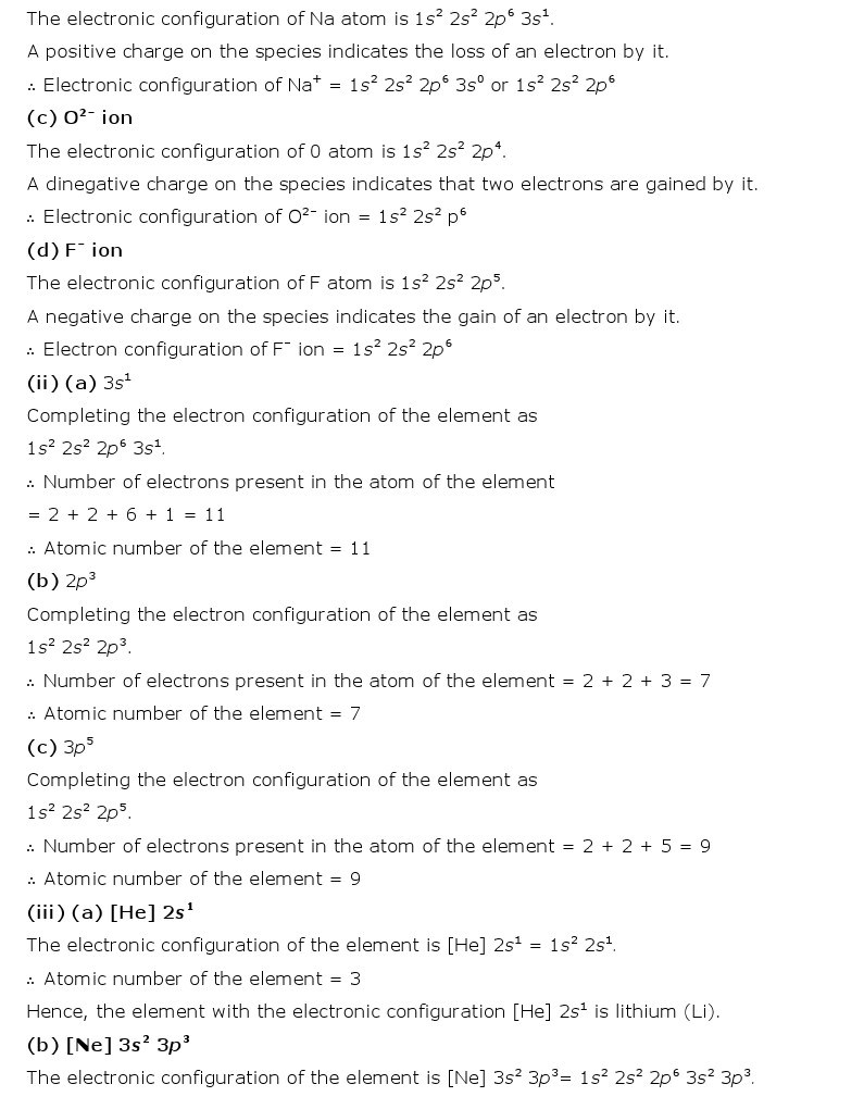 11th, Chemistry, Structure of Atom 18