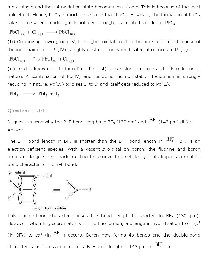 11th, Chemistry, The p-Block Elements 8