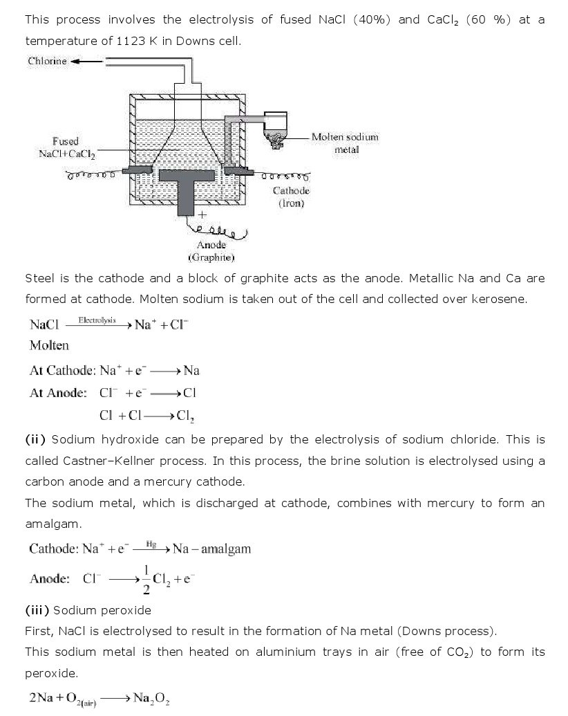 11th, Chemistry, The s- Block Elements 11