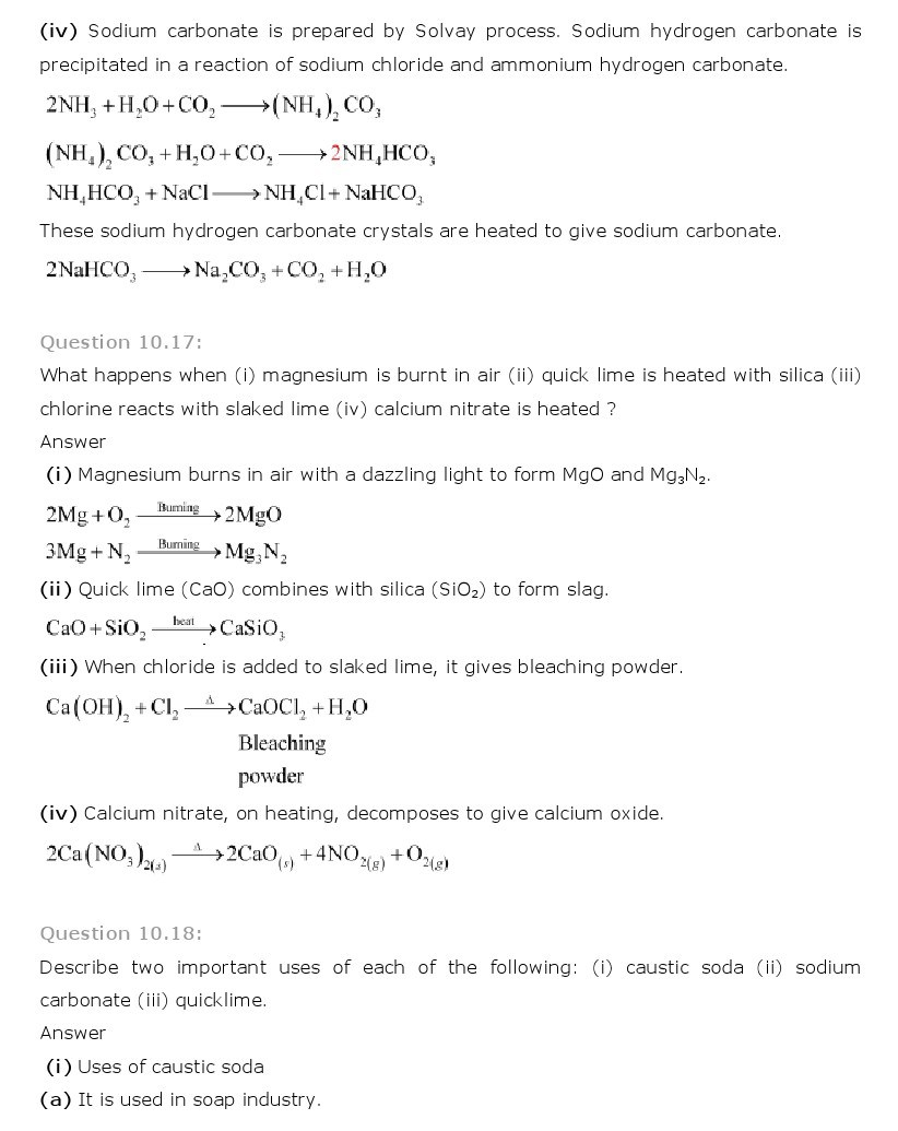 11th, Chemistry, The s- Block Elements 12