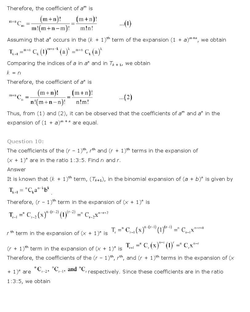 11th, Maths, Binomial Theorem 12