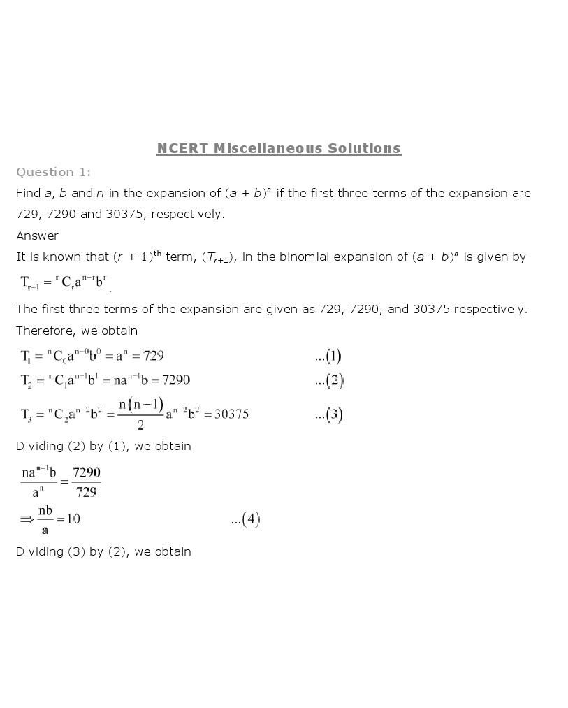 11th, Maths, Binomial Theorem 16