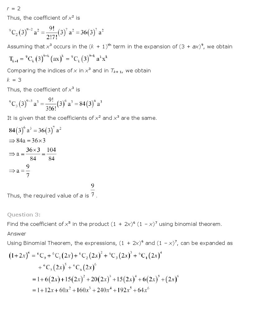 11th, Maths, Binomial Theorem 18