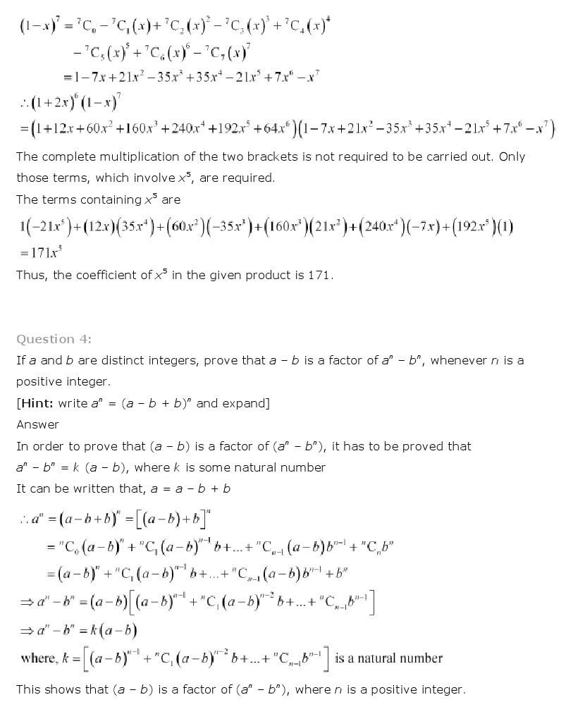 11th, Maths, Binomial Theorem 19