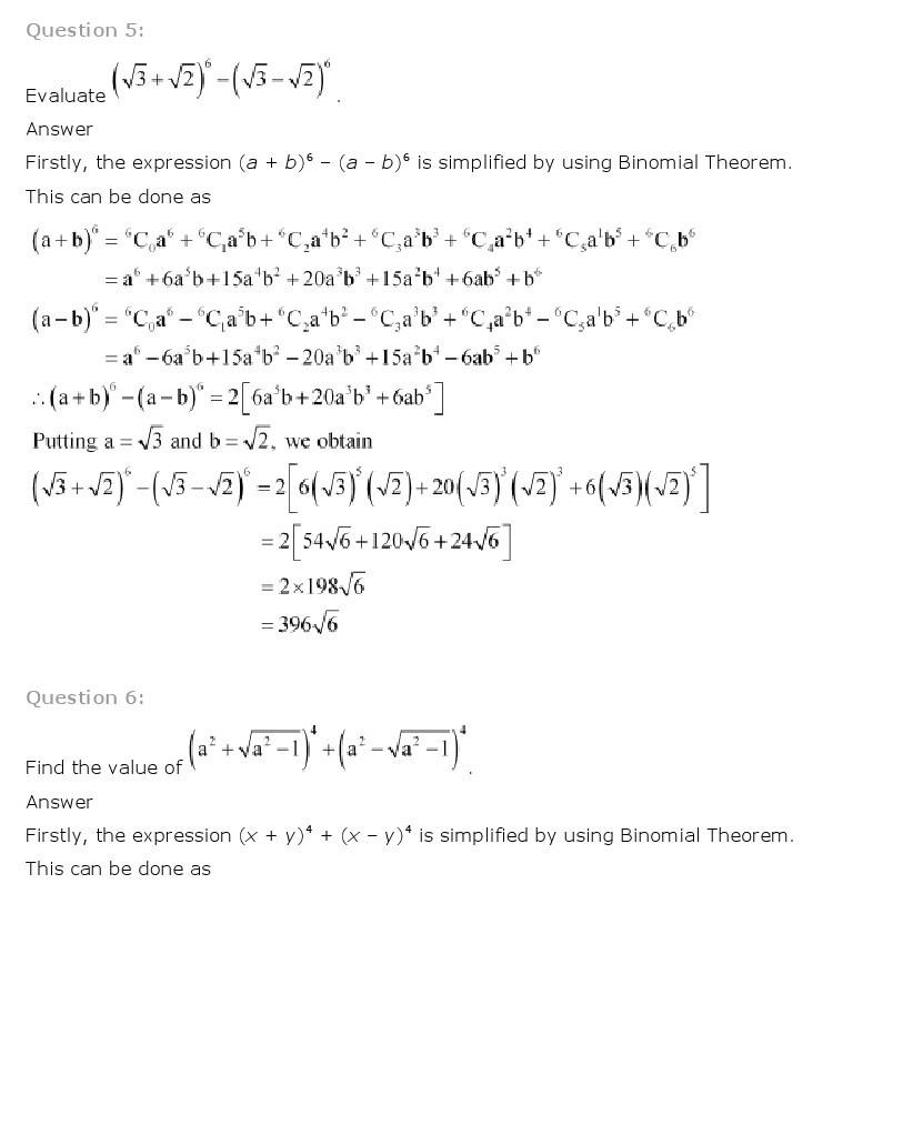 11th, Maths, Binomial Theorem 20