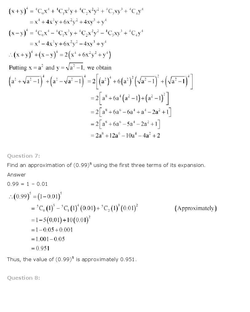 11th, Maths, Binomial Theorem 21