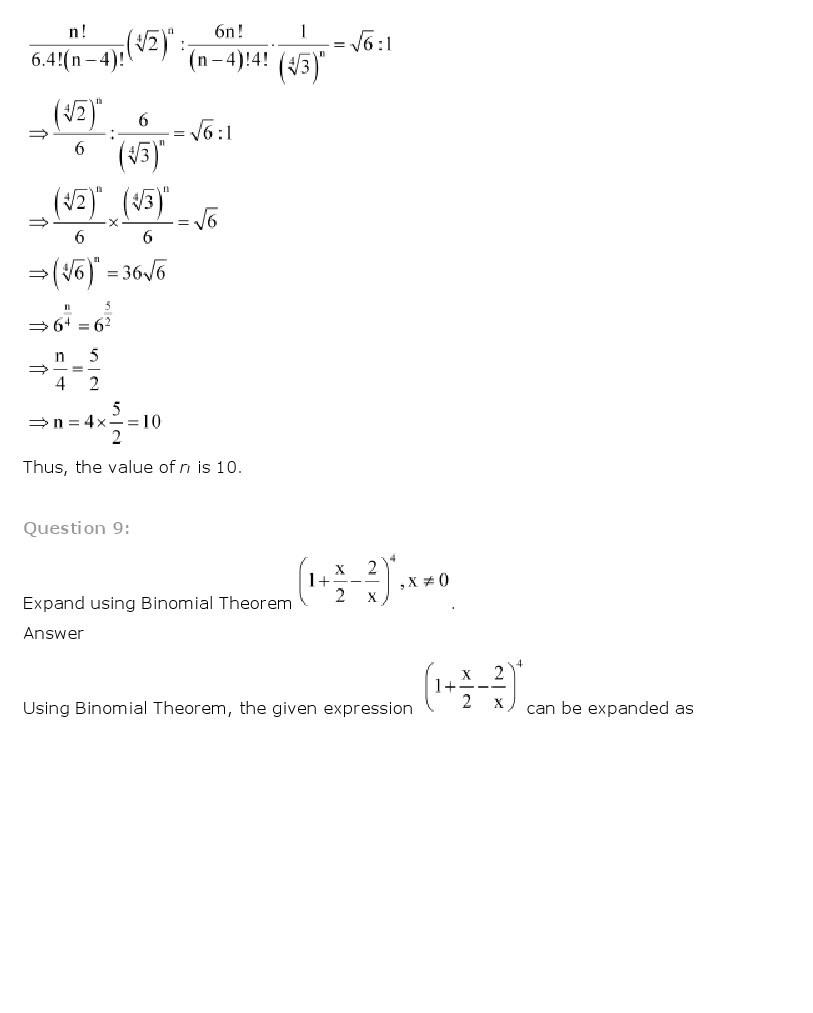 11th, Maths, Binomial Theorem 23