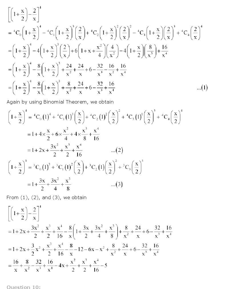 11th, Maths, Binomial Theorem 24